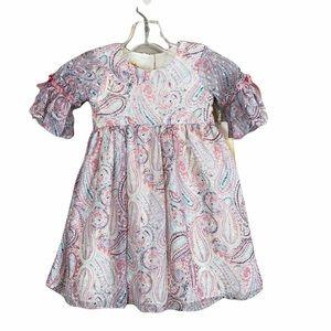 NWT Laura Ashley London Pink Paisley Dress Size 4